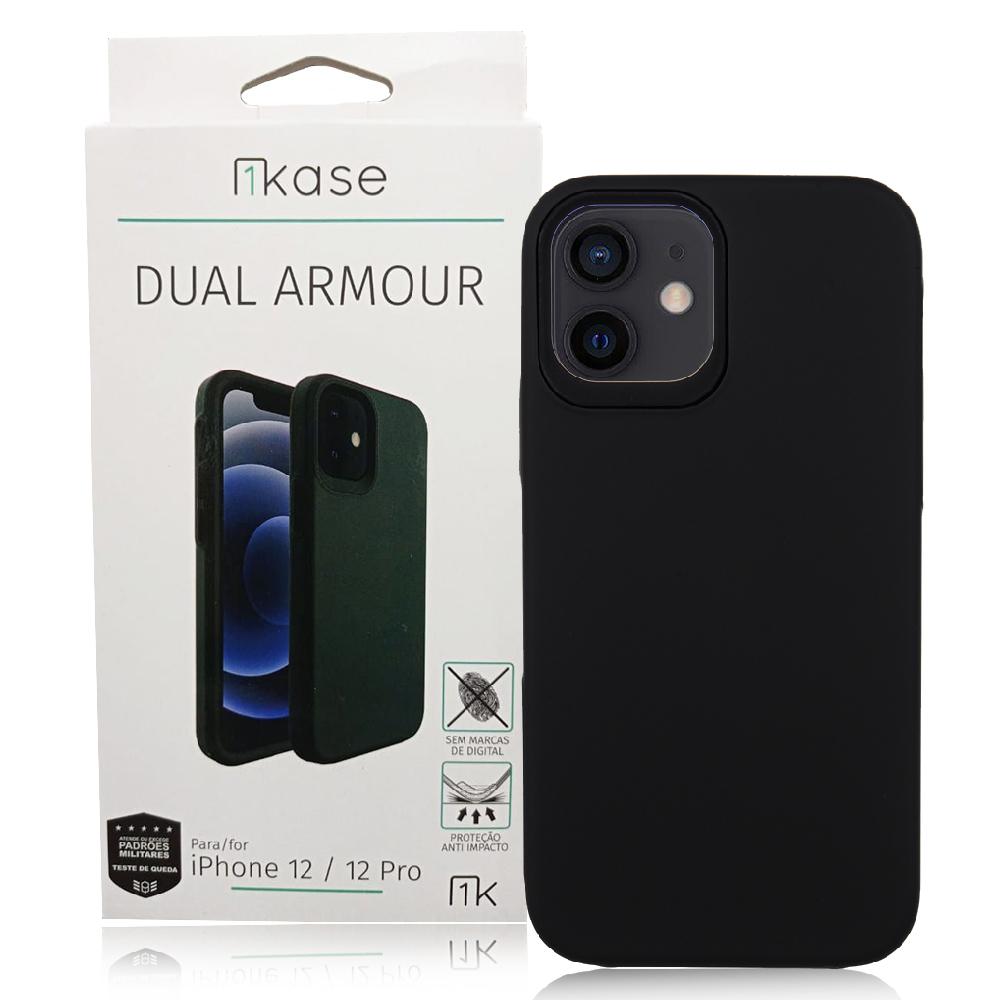 Capa Ikase Dual Armour + Película Nano Zeus Supreme- Iphone 12 / 12 Pro