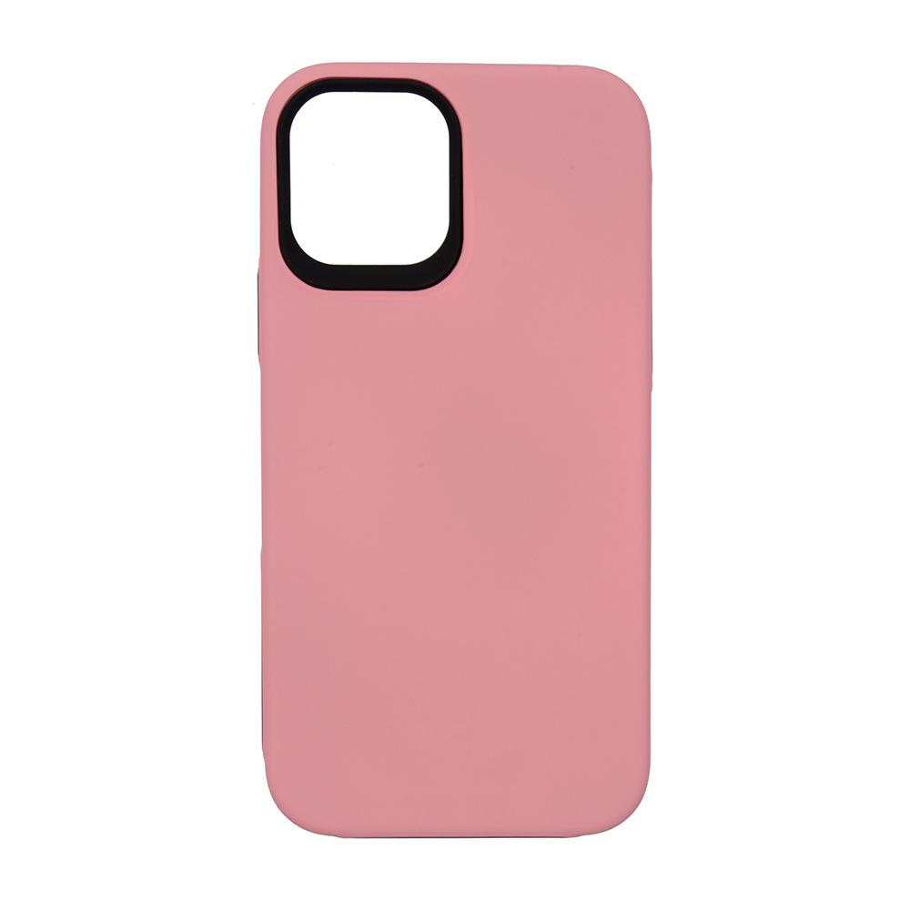 Capa Ikase Dual Armour Rosa + Película Nano Premium - Iphone 12 / 12 Pro