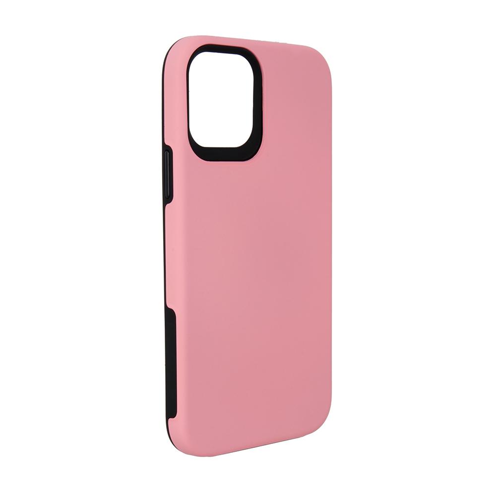 Capa Ikase Dual Armour Rosa + Película Nano Zeus Supreme - Iphone 12 / 12 Pro