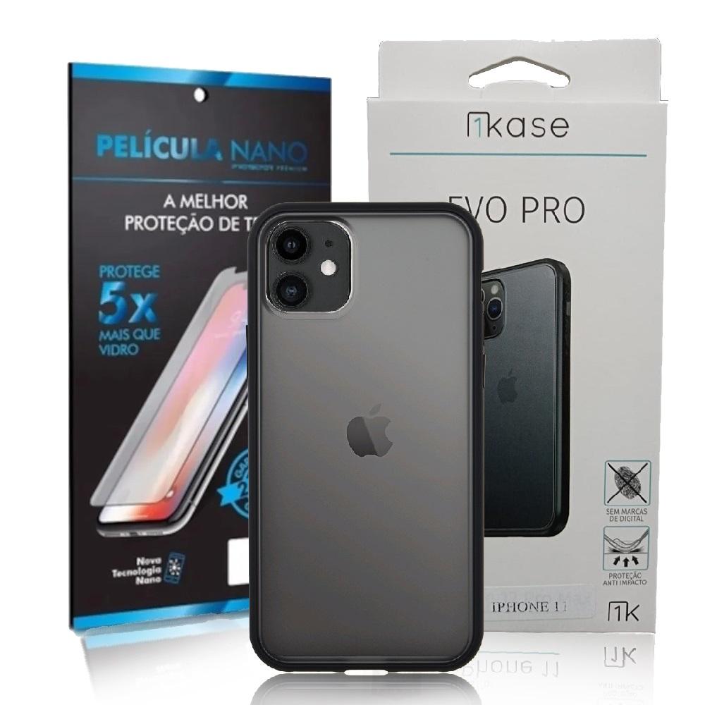 Capa Ikase Evo Pro + Película Nano Premium - Iphone 11