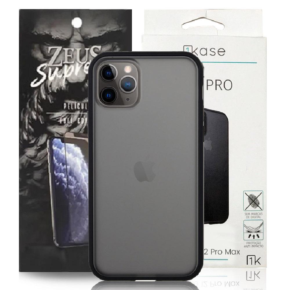 Capa Ikase Evo Pro + Película Nano Zeus Supreme - Iphone 11 Pro Max