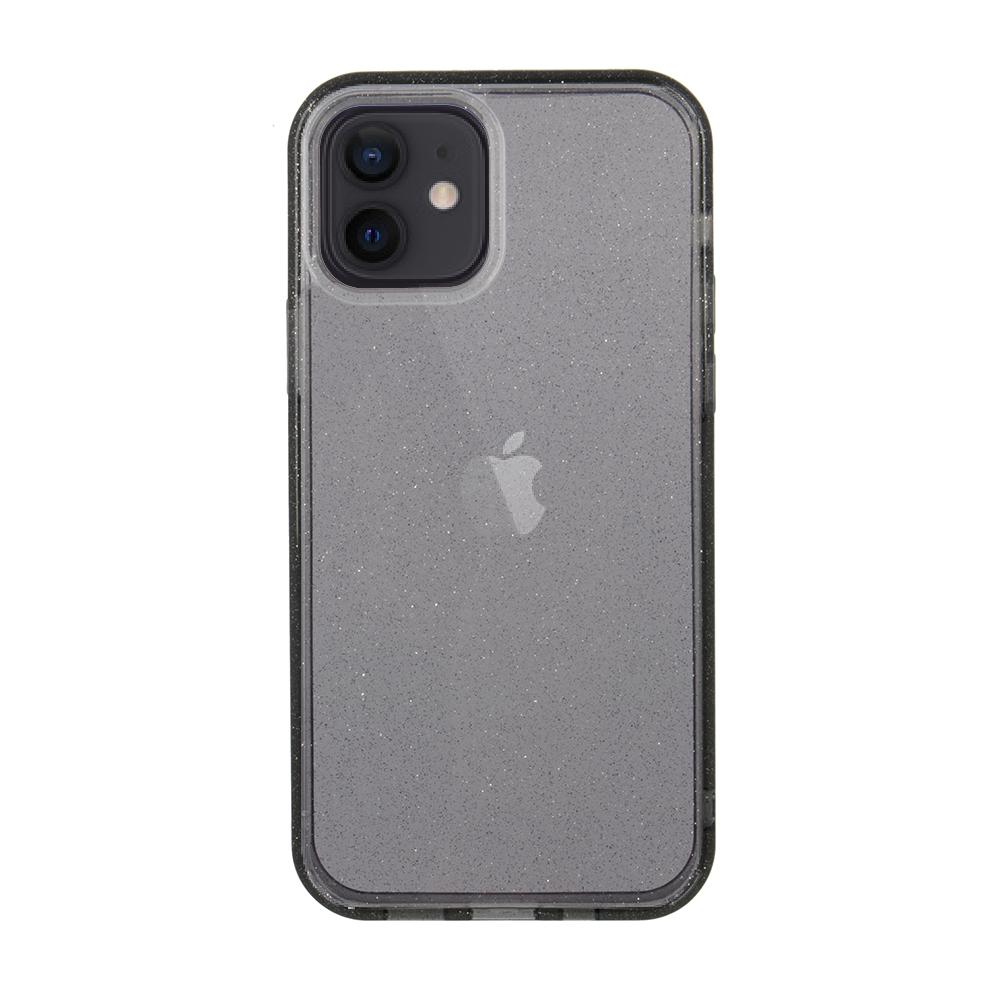 Capa Ikase Gliter Fumê + Película Nano Premium - Iphone 12 /12 Pro