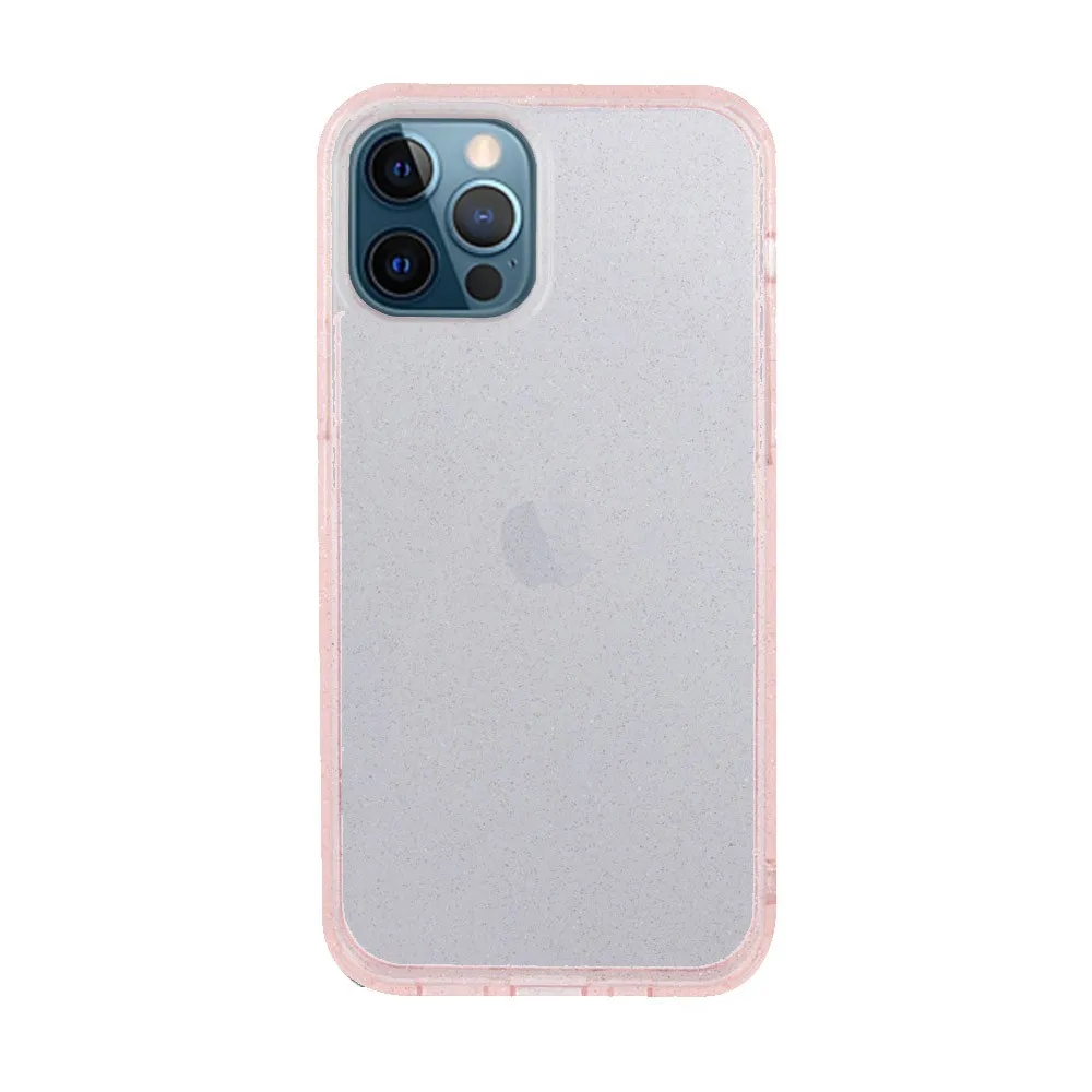 Capa Ikase Gliter Rosa + Película Nano Premium - Iphone 12 Pro Max