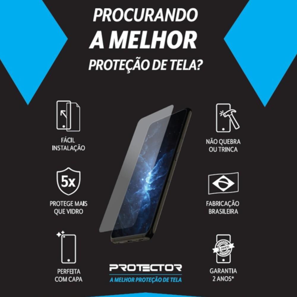 Capa Ikase Gliter Transparente + Película Nano Premium - Iphone 12 /12 Pro