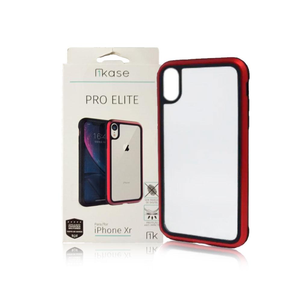 Capa Ikase Pro Elite Vermelho + Película Nano Zeus Supreme - Iphone XR