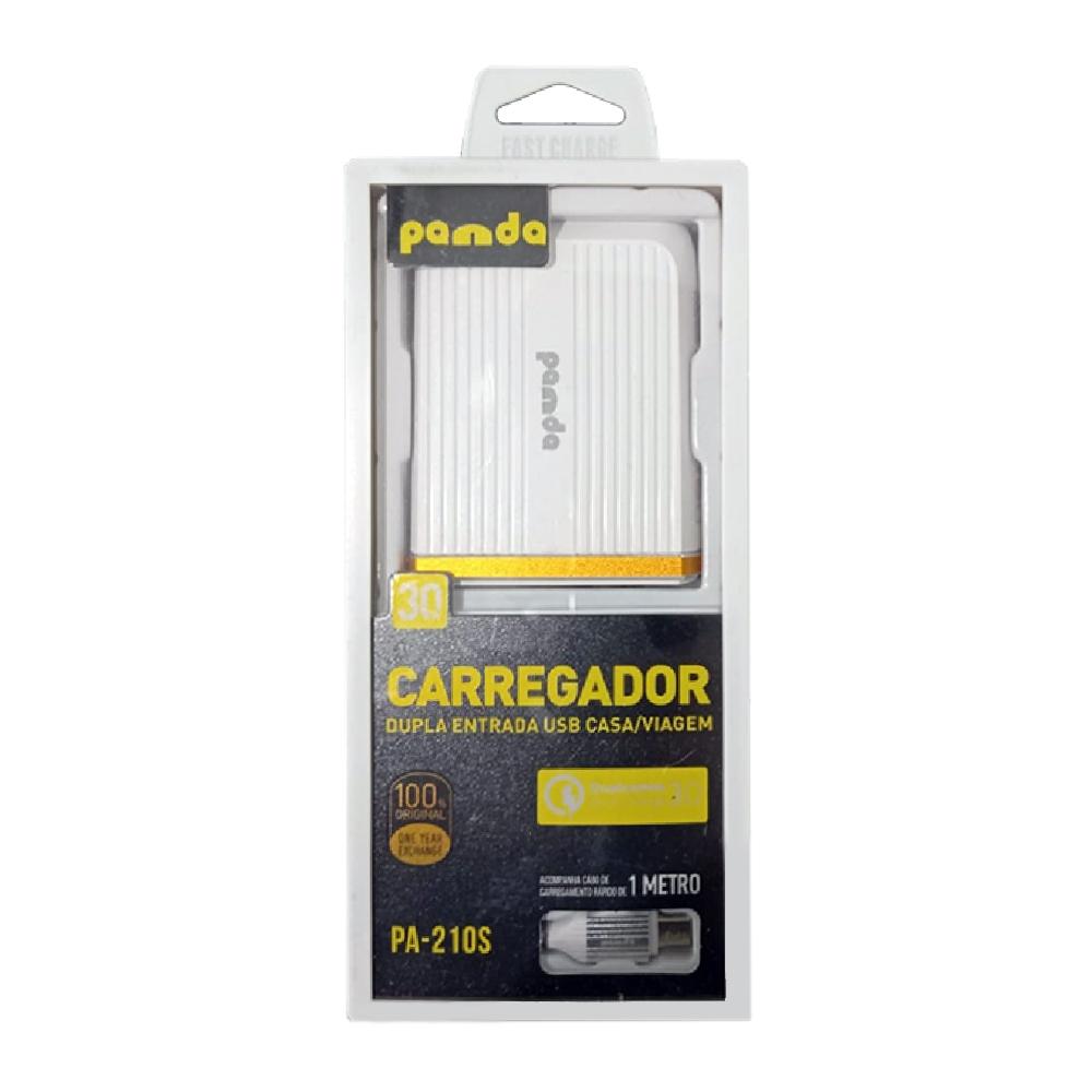 Carregador 2 USB + Cabo Micro USB - Pa-210s
