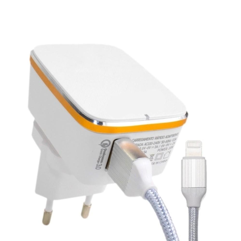 Carregador Lightning USB Panda PA206 Quick Charge 3.0