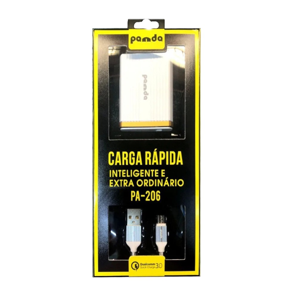 Carregador Micro USB Panda PA206 Quick Charge 3.0