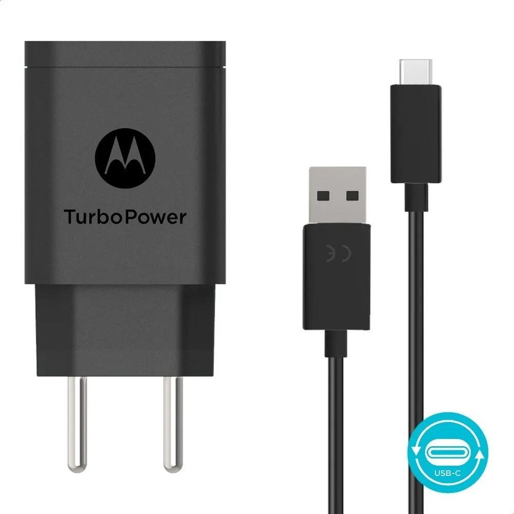 Carregador Motorola Turbo Power 10W - Com cabo Tipo C