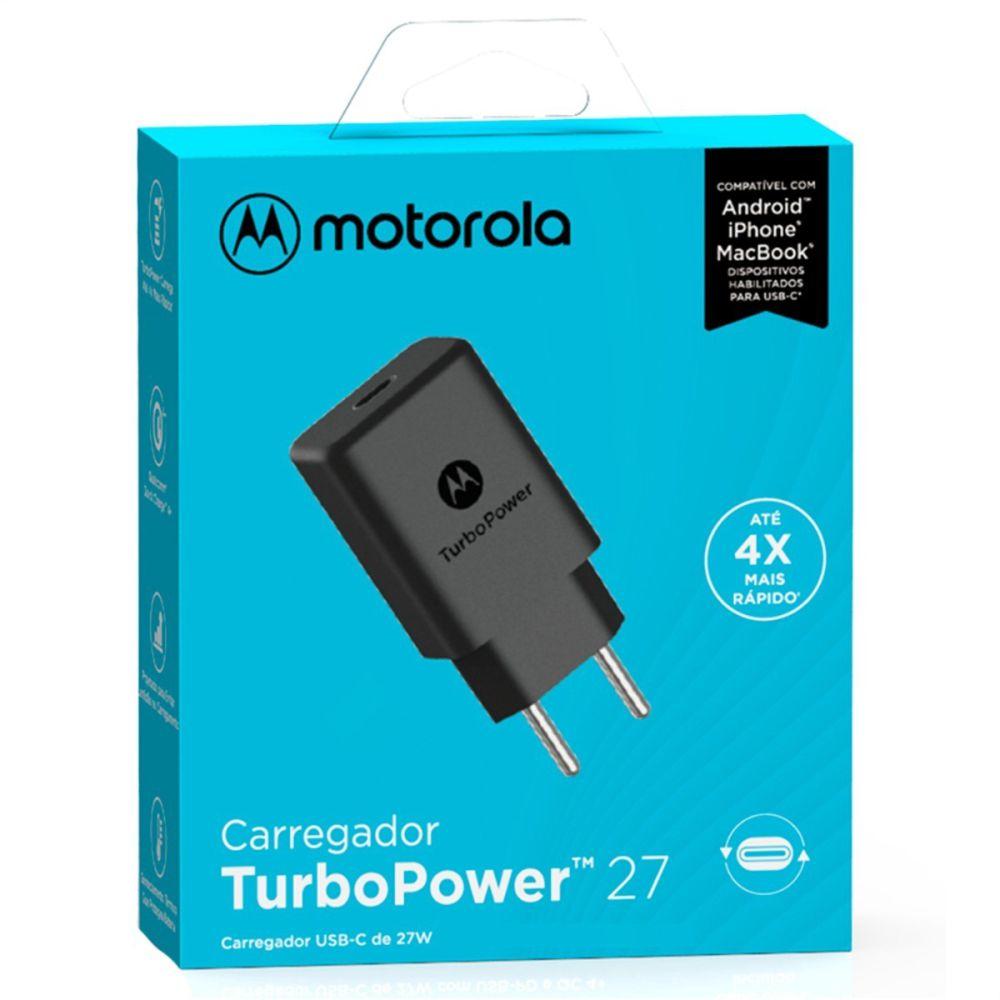 Carregador Motorola Turbo Power 27W (Sem Cabo) Saída Tipo-C