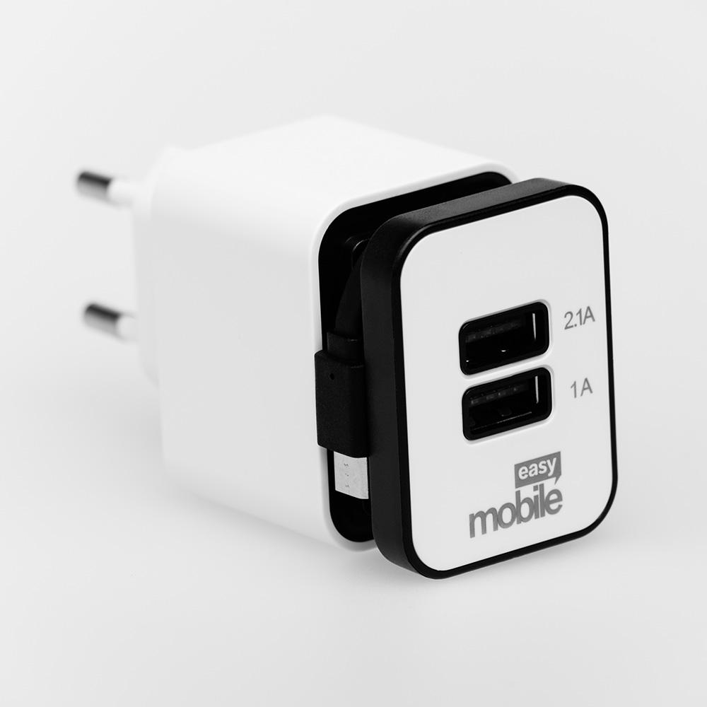 Carregador Usb Easy Mobile Smart 2.1 Turbo