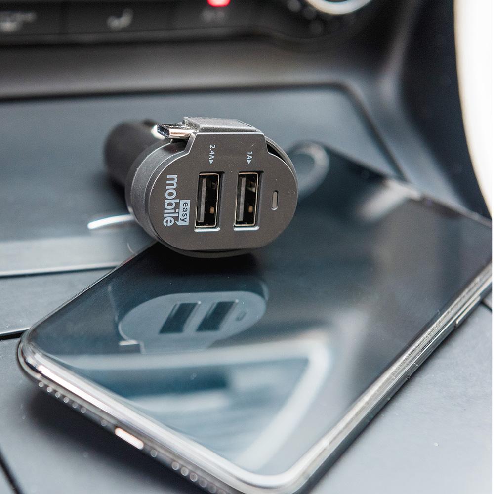 Carregador Veicular Easy Mobile Smart Car 6.0A  - Tipo-C - PRETO