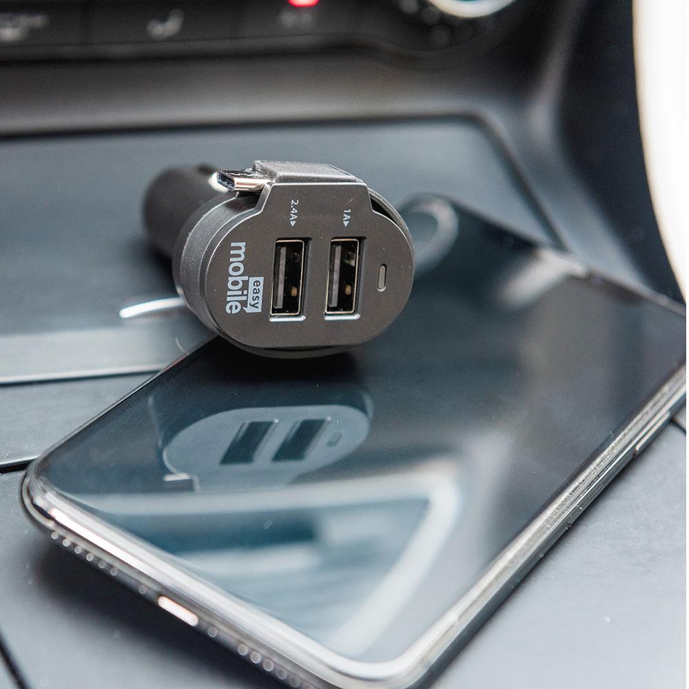 Carregador Veicular Turbo Smart Car 6.0A com Cabo Micro-USB - Easy Mobile
