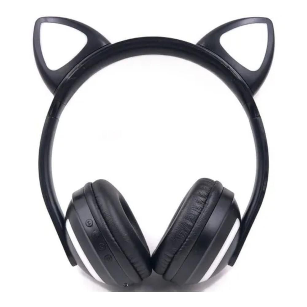 Fone de Ouvido Bluetooth Orelha de Gatinho com Led Zw-19
