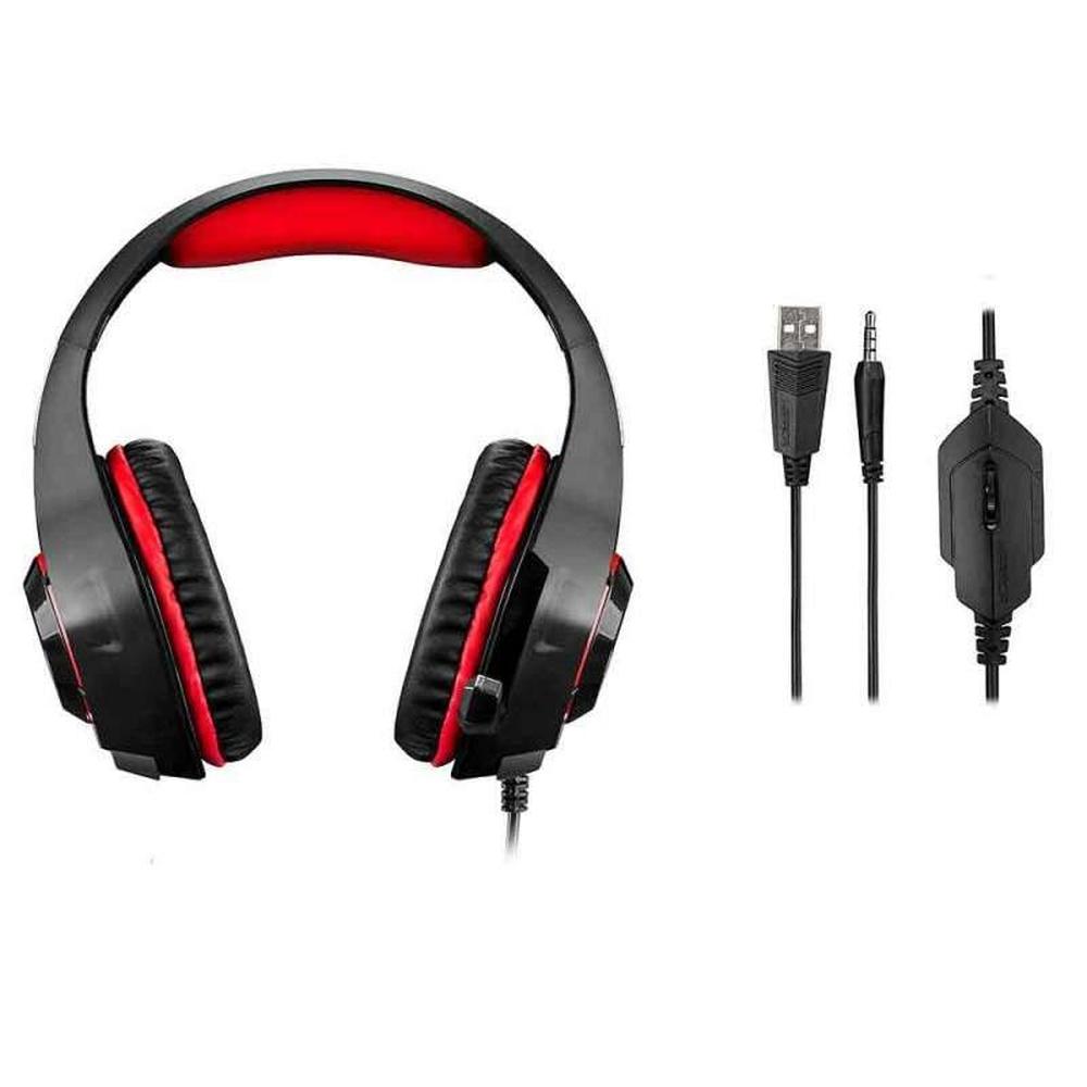 Headset Gamer Warrior Rama PH219 Multilaser - VERMELHO