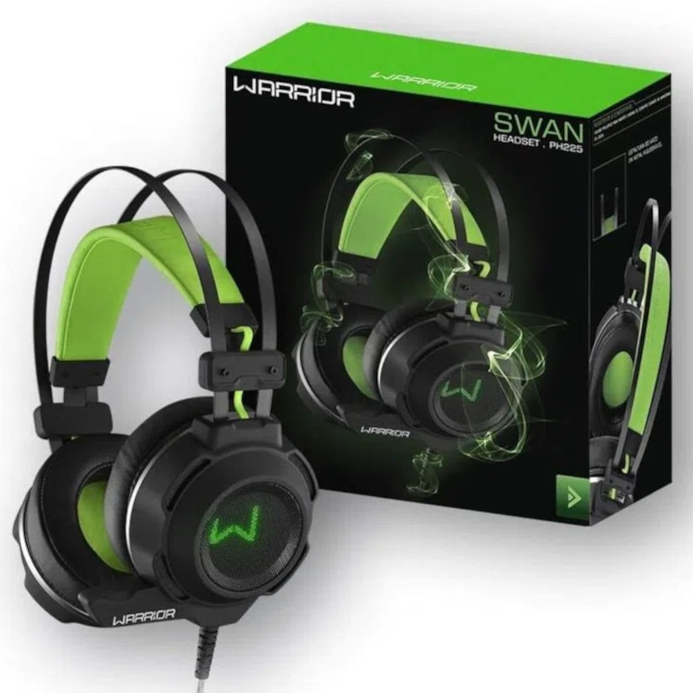 Headset Gamer Warrior Swan USB+P2 Stereo PH225 Multilaser
