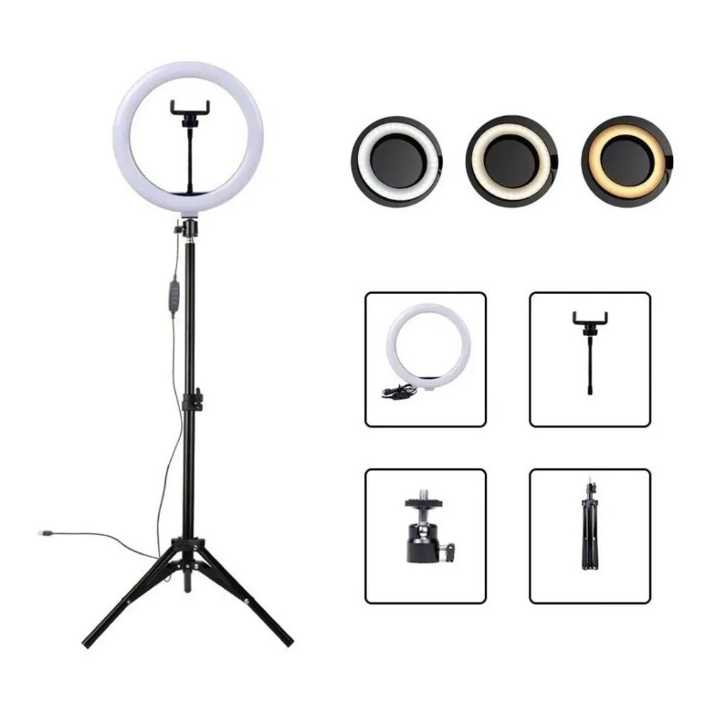 Kit Completo Ring Light Com Tripé 2,10mts - 1UNICA