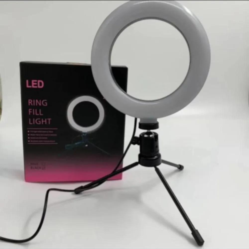 Luminária Ring Light 6 Polegadas com Tripé 20cm - 1UNICA