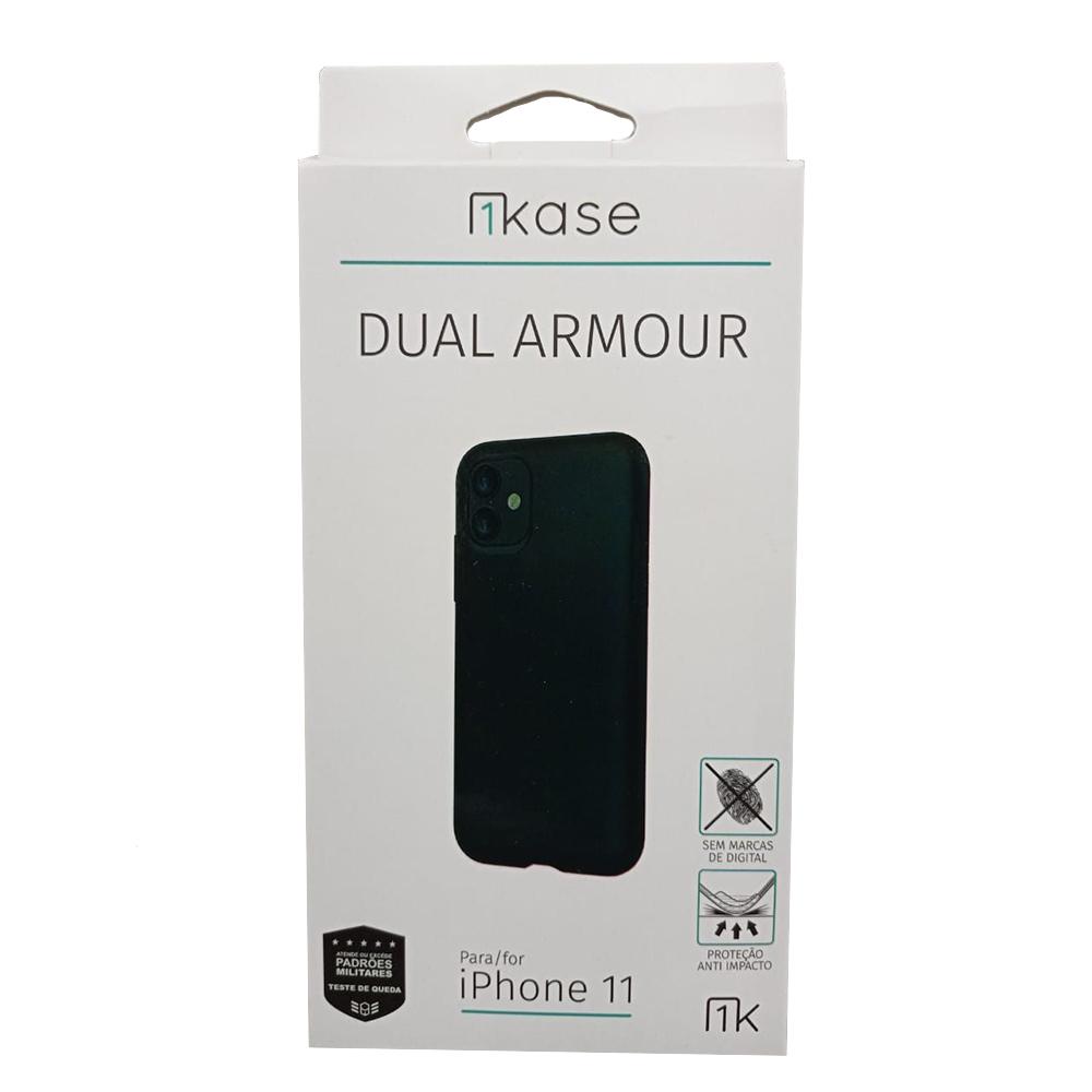 Capa Ikase Dual Armour + Película Nano Premium - Iphone 11