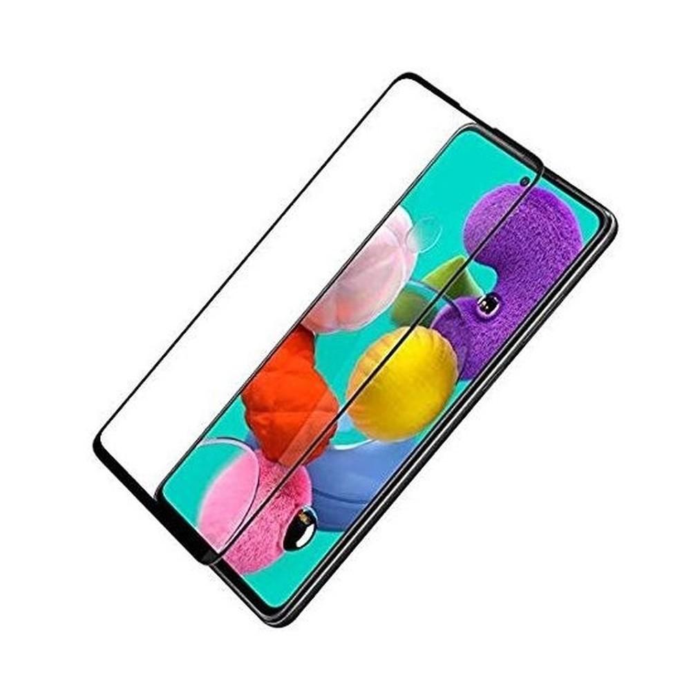 Pelicula de Vidro Temperado 3D Samsung Galaxy A80 A90 Tela Toda, borda preta