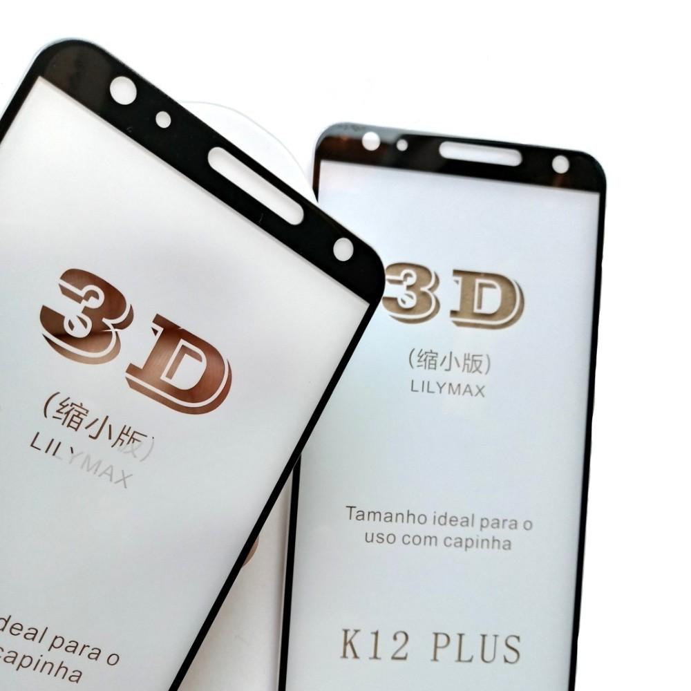 Película de Vidro Temperado LG K12/ K12Plus Borda Preta