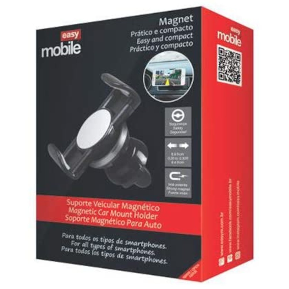 Suporte Celular Magnético Veicular Easy Mobile