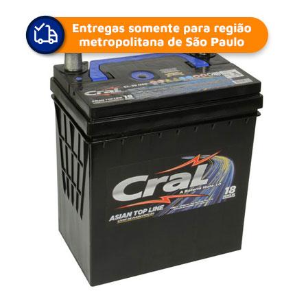 Bateria Automotiva CRAL CL38NSBD 38Ah 18 meses de garantia (PICANTO)