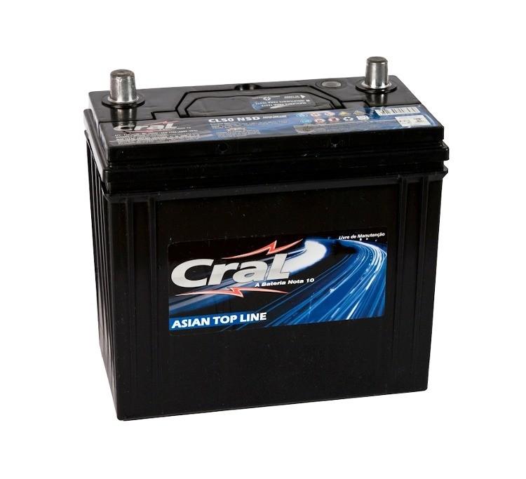 Bateria Automotiva CRAL CL50NSD 50Ah 18 meses de garantia