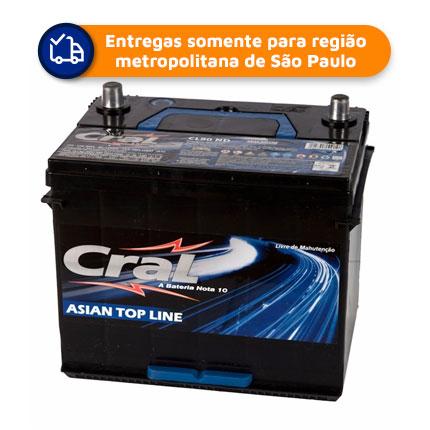 Bateria Automotiva CRAL CL-80ND      80Ah 15 meses de garantia