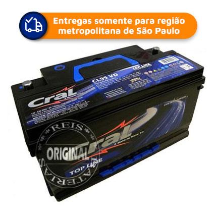 Bateria Automotiva CRAL CL-95VDI 95Ah 15 meses de garantia