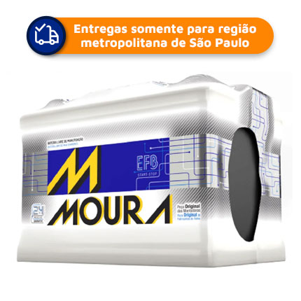 Bateria Automotiva Moura EFB MF72LD   (Start/Stop) 72Ah  24 meses de garantia
