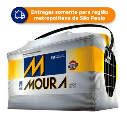 Bateria Automotiva MOURA M70KD 70Ah 18 meses de garantia