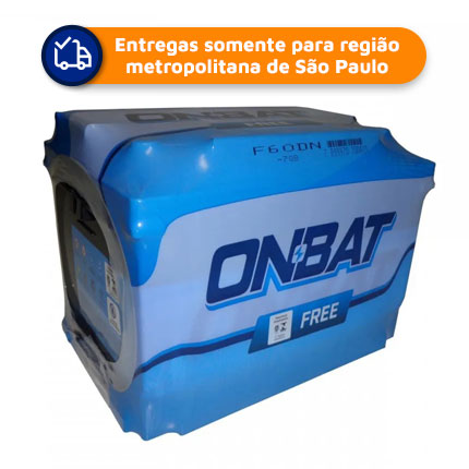 Bateria Automotiva ONBAT F60DN  2° linha PIONEIRO 60Ah 12 meses de Garantia