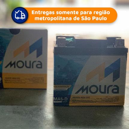 Bateria Moto Moura Ma5-d 5ah Original Titan 150/125 Fan Biz