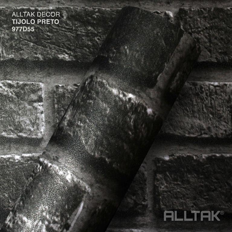 ALLTAK DECORATIVO TIJOLO PRETO  0,16X1,22