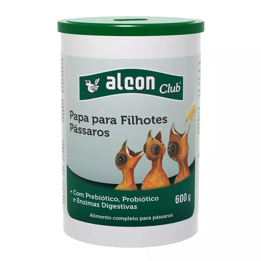 ALCON CLUB PAPA PARA FILHOTES PÁSSAROS 600G
