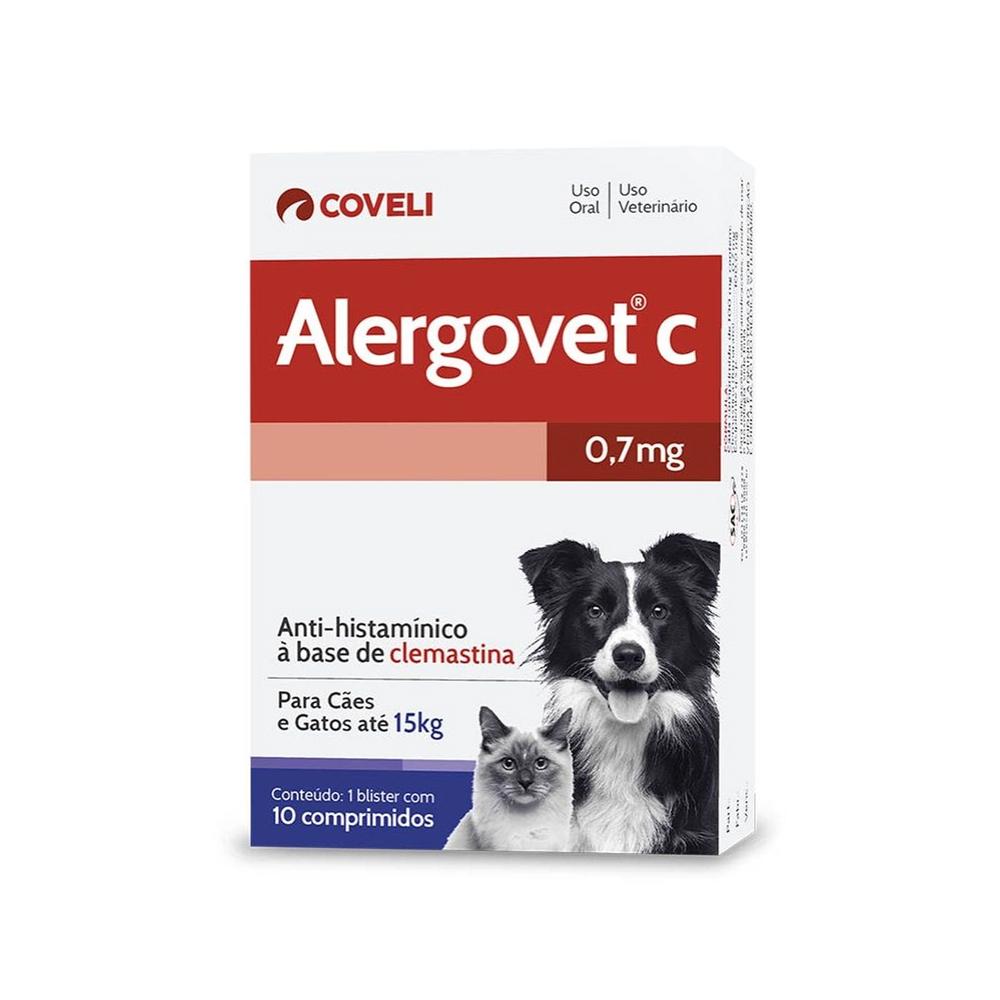 Alergovet C para Cães e Gatos 0,7mg