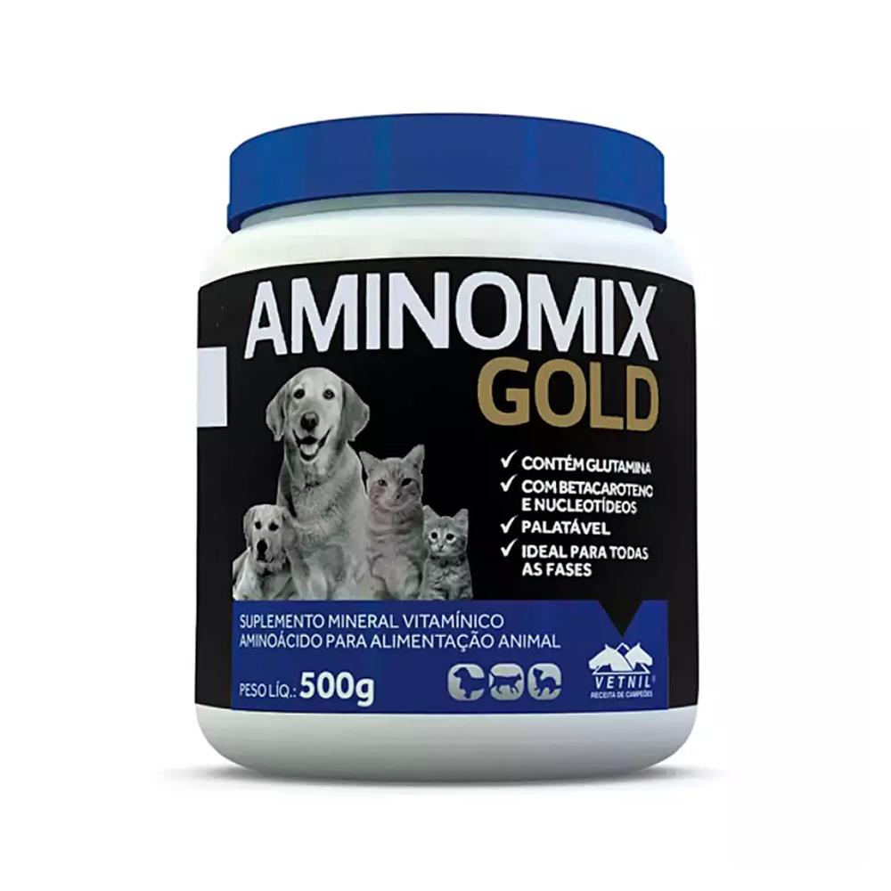 Suplemento Aminomix Gold para Cães e Gatos 500g