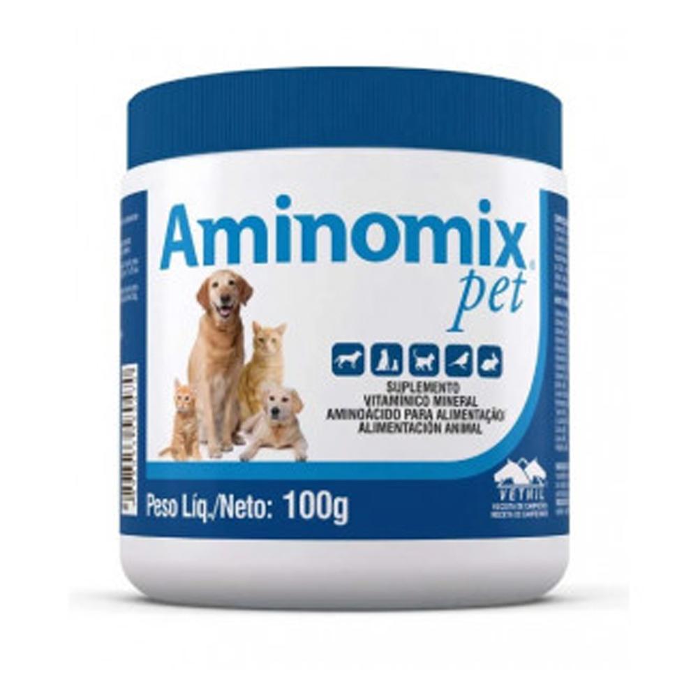 Suplemento Aminomix Pet para Cães e Gatos 100g