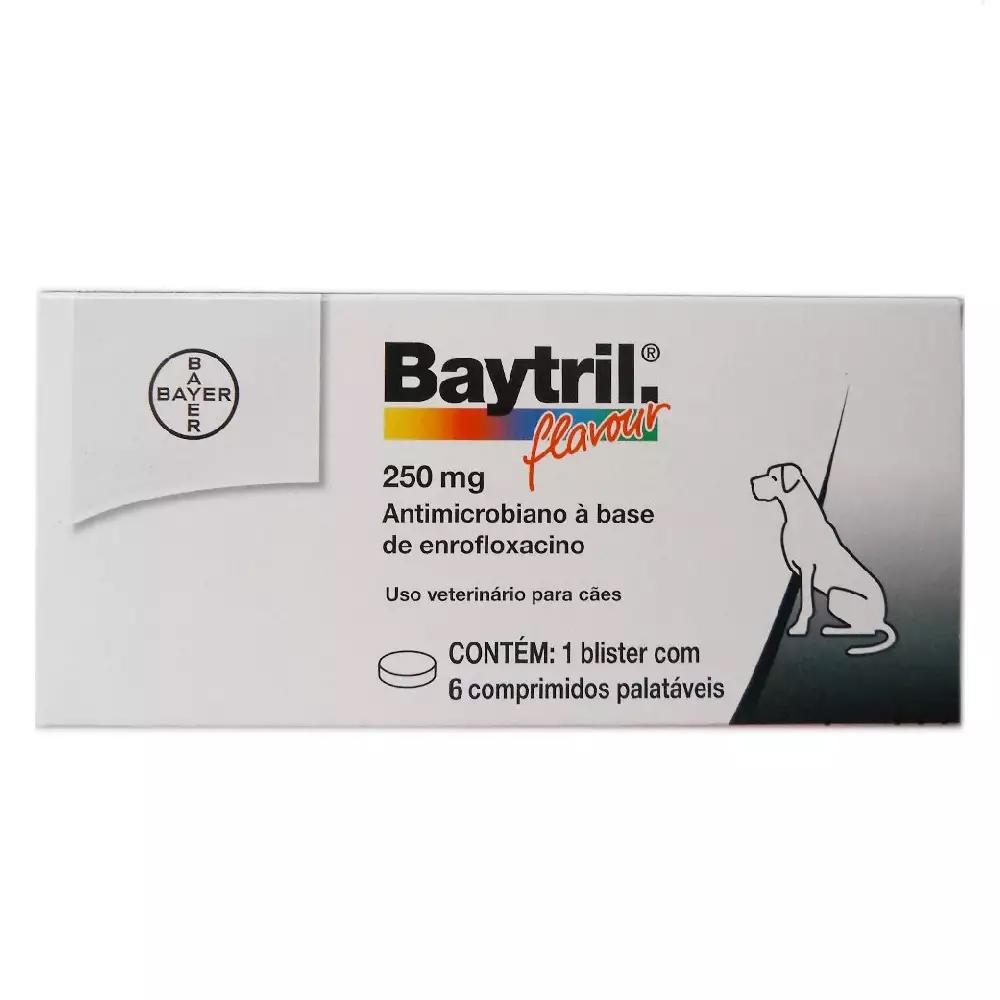 Baytril Flavour 250mg 6 Comprimidos