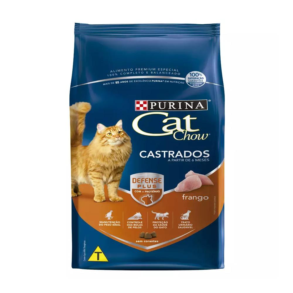 Ração Cat Chow para Gatos Castrados Sabor Frango 1kg