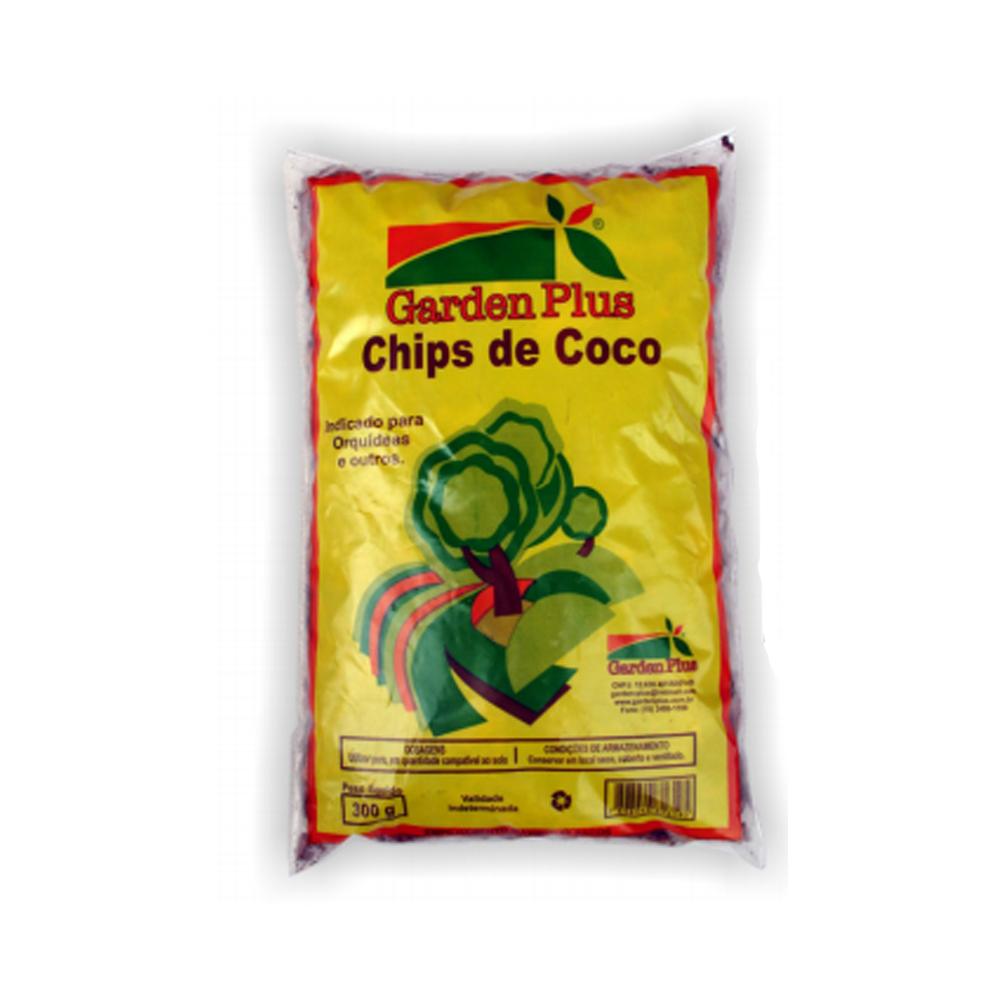 CHIPS DE COCO GARDEN PLUS 300G