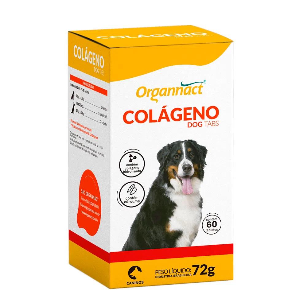Colágeno Dog Tabs Organnact 72g