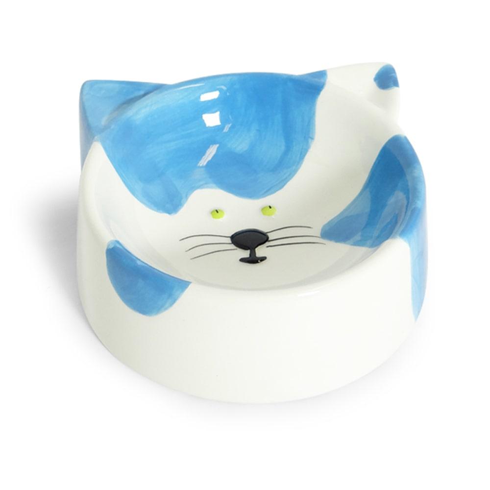 Comedouro Porcelana Gato Azul 150ml
