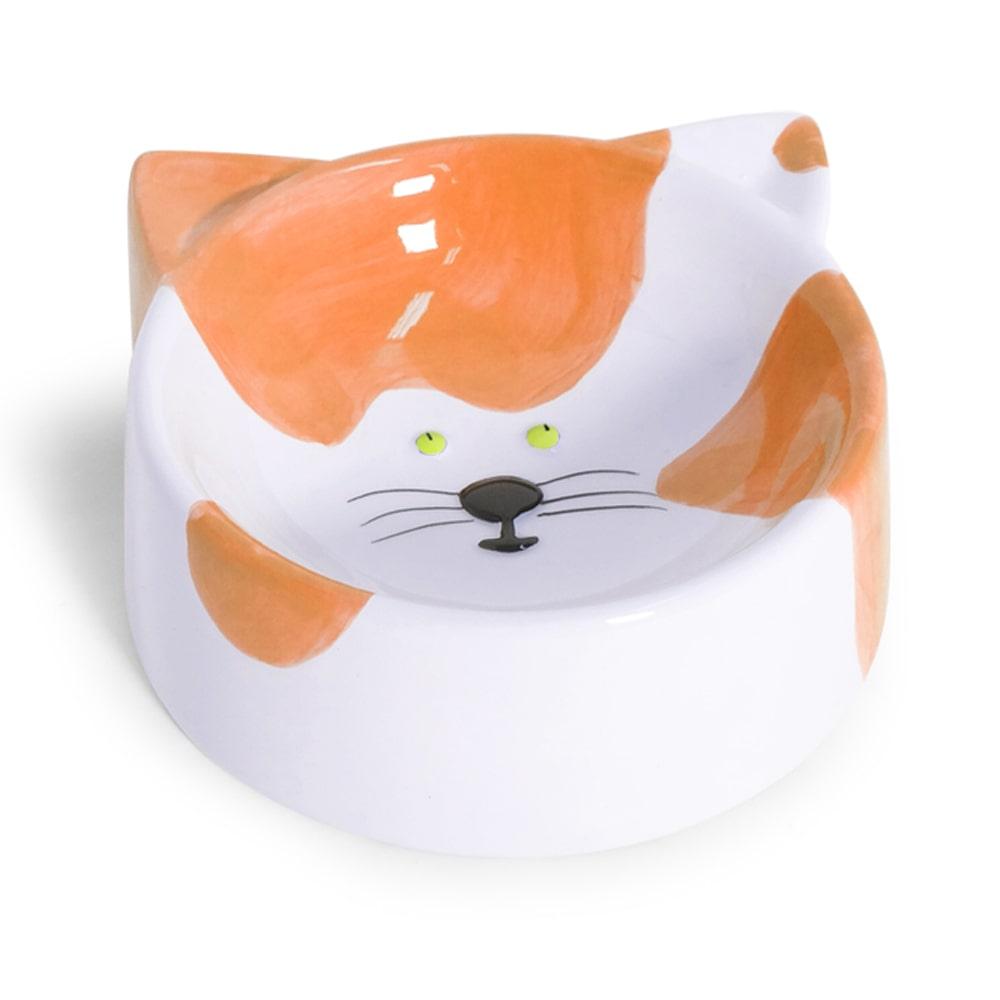 Comedouro Porcelana Gato Laranja 150ml