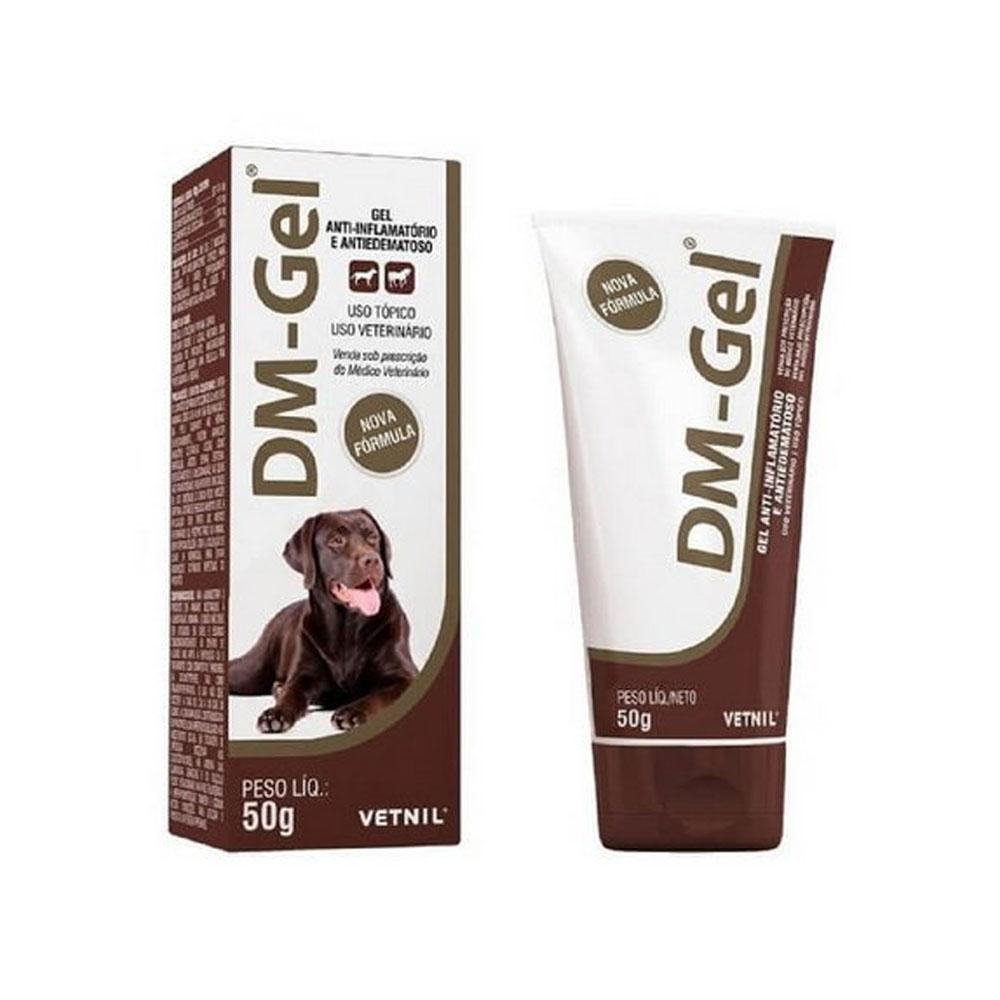 Gel Anti-Inflamatório DM-Gel Vetnil Bisnaga para Cães 50g