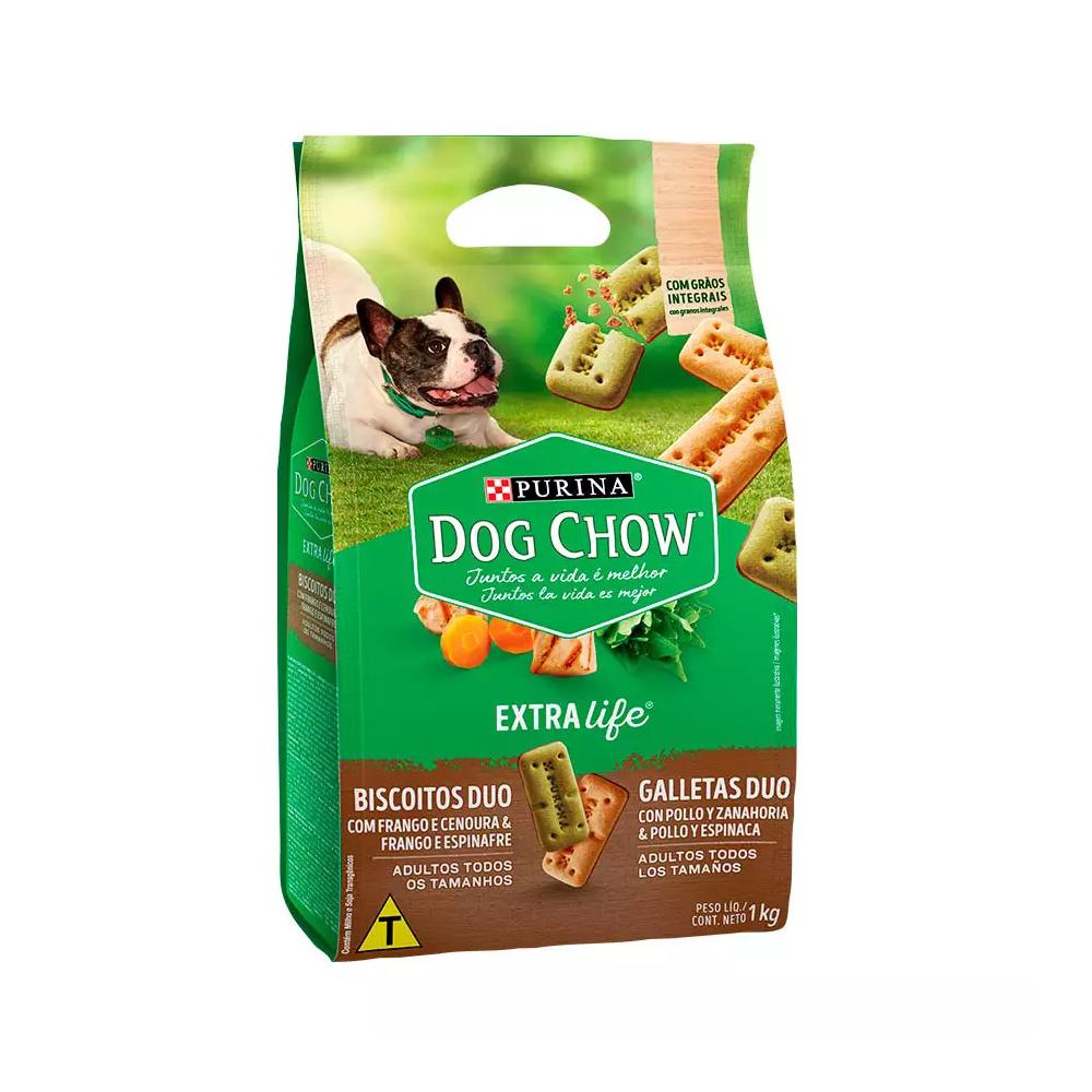 Biscoito Dog Chow para Cães Duo Raças Pequenas 1kg