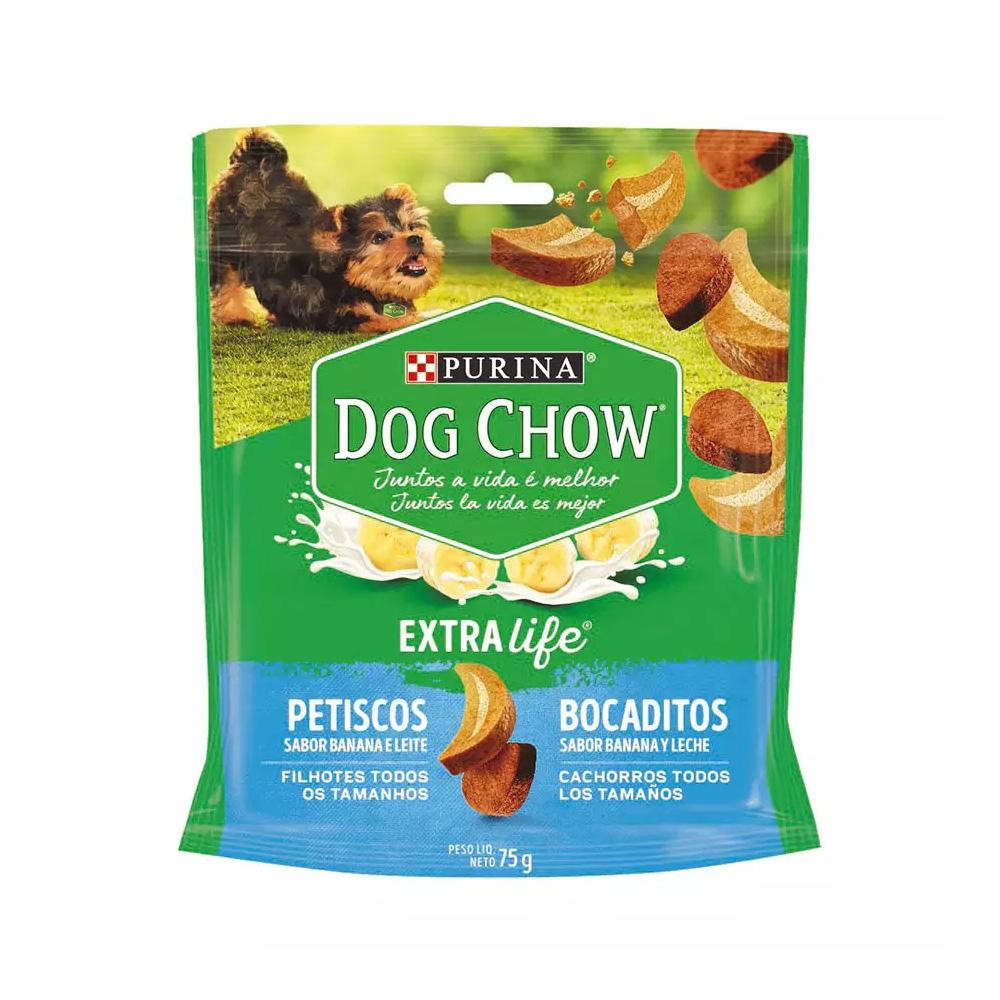 Petisco Dog Chow Extra Life para Cães Filhotes Sabor Banana e Leite 75g