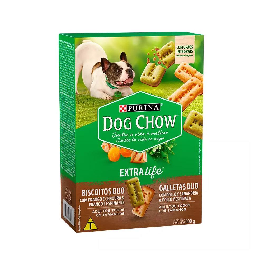 Biscoito Dog Chow para Cães Duo Raças Pequenas - 500g
