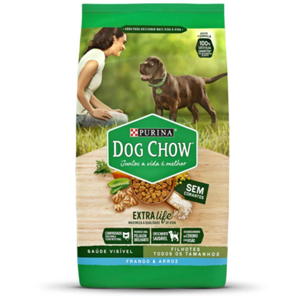 Ração Dog Chow para Cães Filhotes Sabor Frango e Arroz 15kg